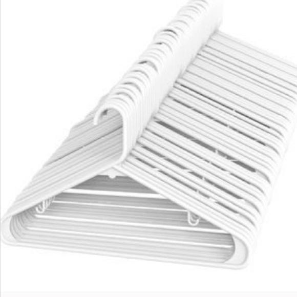 10pcs white clothes hanger